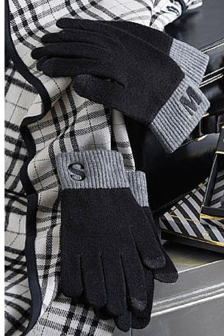 Monogram Texting Glove | Texting gloves, Embroidered ...