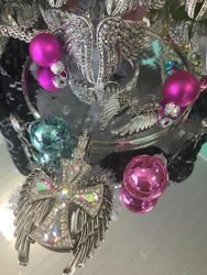 Angel Wing Gift Set, Free Shipping on the three piece stunning clear rhinestone crystal set. Check out all the fantastic angel wing jewelry, clothing and accessories that Go Brazen has on line or swing on by the store in Red Wing, Minnesota