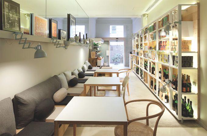 Mordisco restaurant in Barcelona's Eixample district. Designed by Sandra Tarruella Interioristas