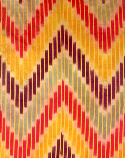 Man's robe with zigzag design, from the Rau collection
