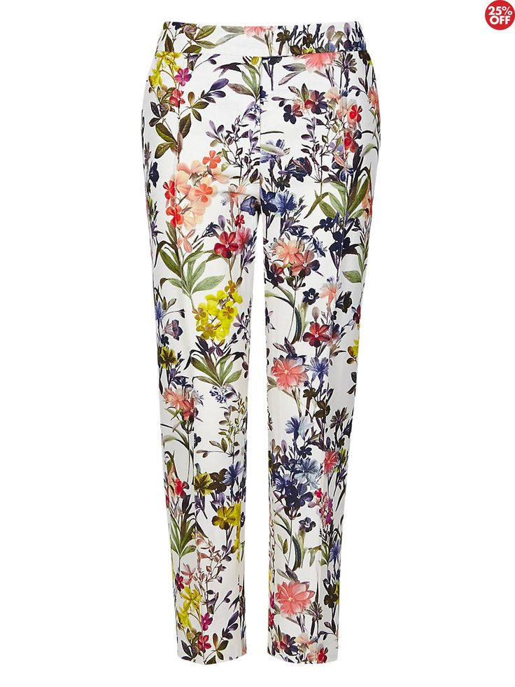 Marks+&+Spencer+Autograph+Floral+Print+Cotton+Rich+Crop+Trousers+-+Autograph+Floral+Print+Cotton+Rich+Crop+Trousers    Fabric:+cotton,+viscose  Colour:+ivory,+multi+coloured  Trouser+type:+tailored+trousers  Leg+type:+cropped  Pattern:+floral  Occasion:+formal,+casual  Inside+leg:+25+inches  Fastening:+front+zip    Tailored+crop+trousers  Bold+floral+pattern  Two+side+pockets  False+back+pocket  Stitched+seam+down+front+of+legs  Inside+leg+25+inches  Garment+is+de+labelled+in+accordance+with
