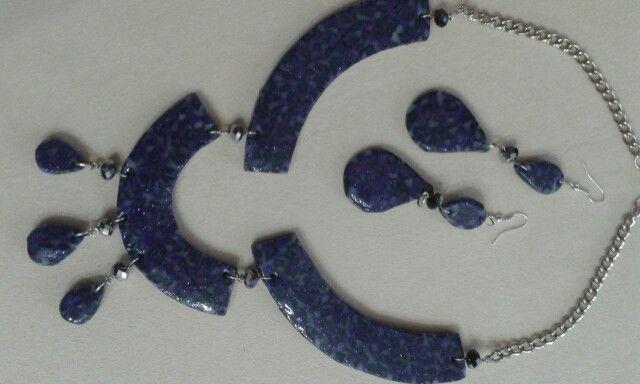 Purple drops.polymer clay