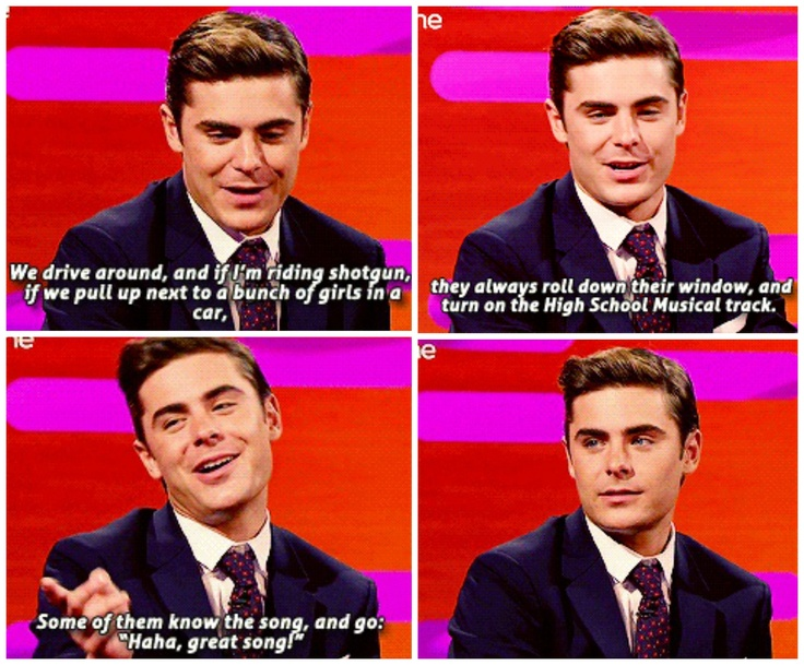 zac efron discussing how his friends taunt him with high school musical. too funny!