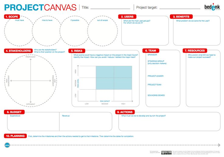 The PROJECT CANVAS: bridging the gap between concept and execution | Sara Coene | LinkedIn