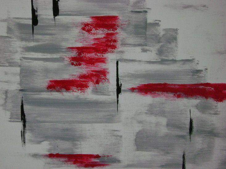Opbouwend door de grijze bouwstenen aangegeven en begrenzend door de zwarte lijntjes, waarbij weer ruimte voor gevoel kwam aangegeven door de rode kleur die er op aangebracht is