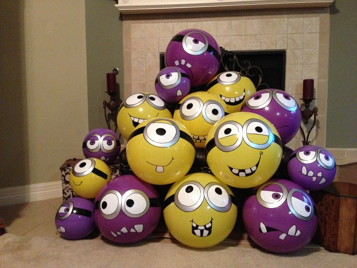 Balls from Wal-Mart + paint pens= Minions for a Minion birthday