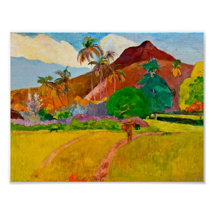 Post Impressionist Gauguin/'s Tahitian Landscape Counted Cross Stitch Pattern