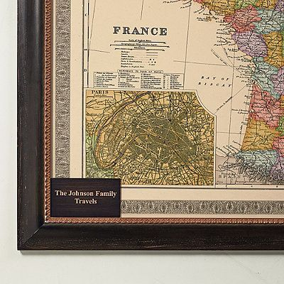 Personalized Plaque For France Travel Map - Frontgate
