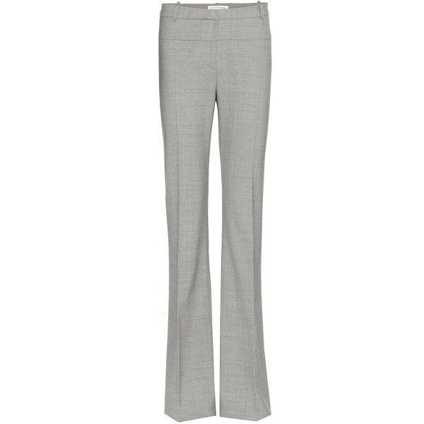 Altuzarra Wool Trousers ($485) ❤ liked on Polyvore featuring pants, altuzarra, trousers, grey, grey pants, woolen pants, wool pants and gray wool pants