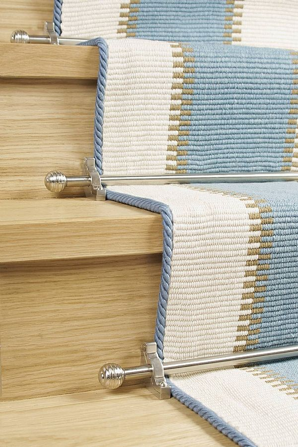 The Vision stair rods feature modern finial designs. They are designed to complement contemporary stair cases and carpet designs. They are a great choice for those looking for something different to the norm. Prices from £22.15 per rod http://www.stair-rodsdirect.co.uk/stair-rods/vision/vision-runner-rods