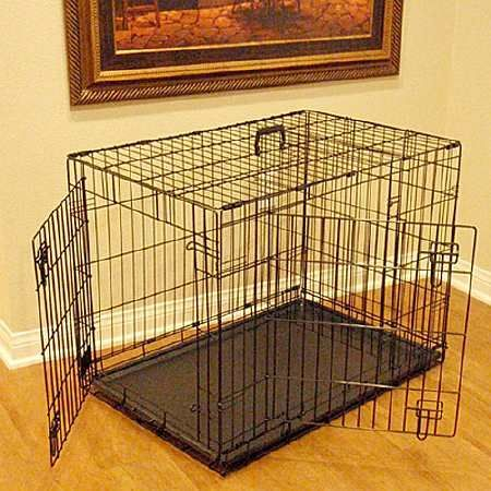 Majestic Pet Products Double Door Folding Dog Crate Cage Medium, 36 inch - 1 ea