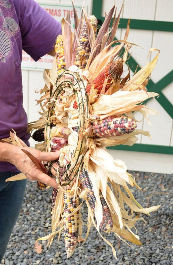 Large Indian Corn Wreath