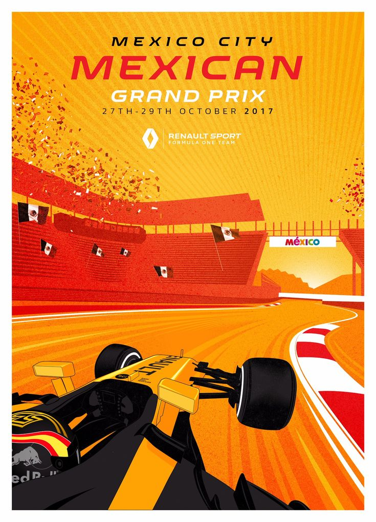 Renault Sport F1 Team poster Mexican Grand Prix - 2017