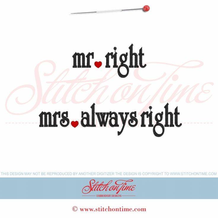 153 Wedding : Mr Right Mrs Always Right 2 files 5x7