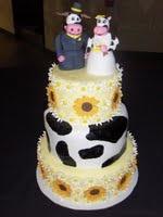 anniversary cow cake