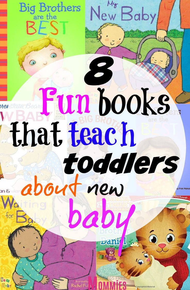 8 fun books that teach toddlers about new baby- Are you pregnant with your second baby and want your toddler to embrace being an older brother or sister? These helpful and fun selections of books are for you! Teach your toddler that being a big brother or sister is fun and exciting. Great books all about welcoming the new baby and a great way to help your toddler get used to the idea of being an older sibling :) Pin now!