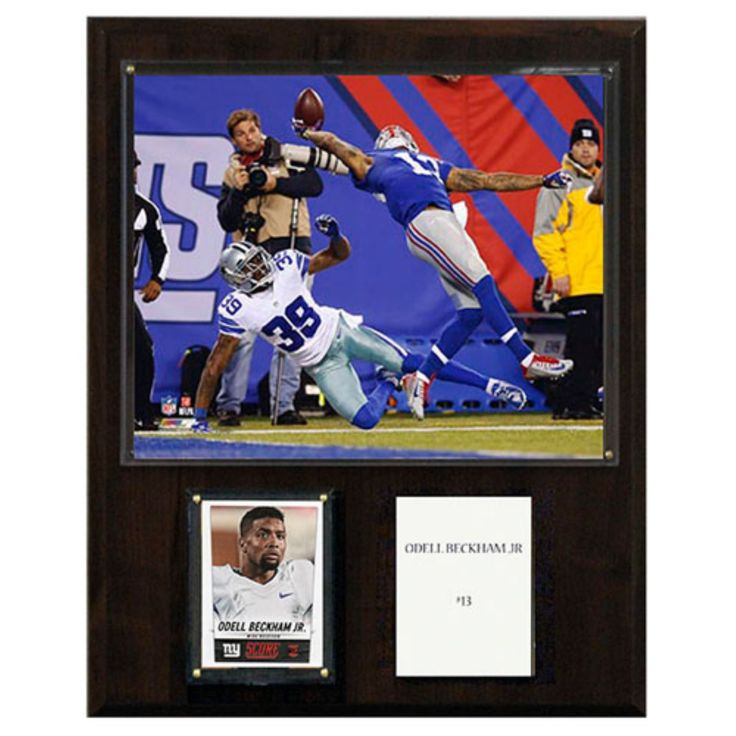 C and I Collectables NFL 15W x 12H in. Odell Beckham Jr. New York Giants The Catch Player Plaque - 1215OBECKCAT