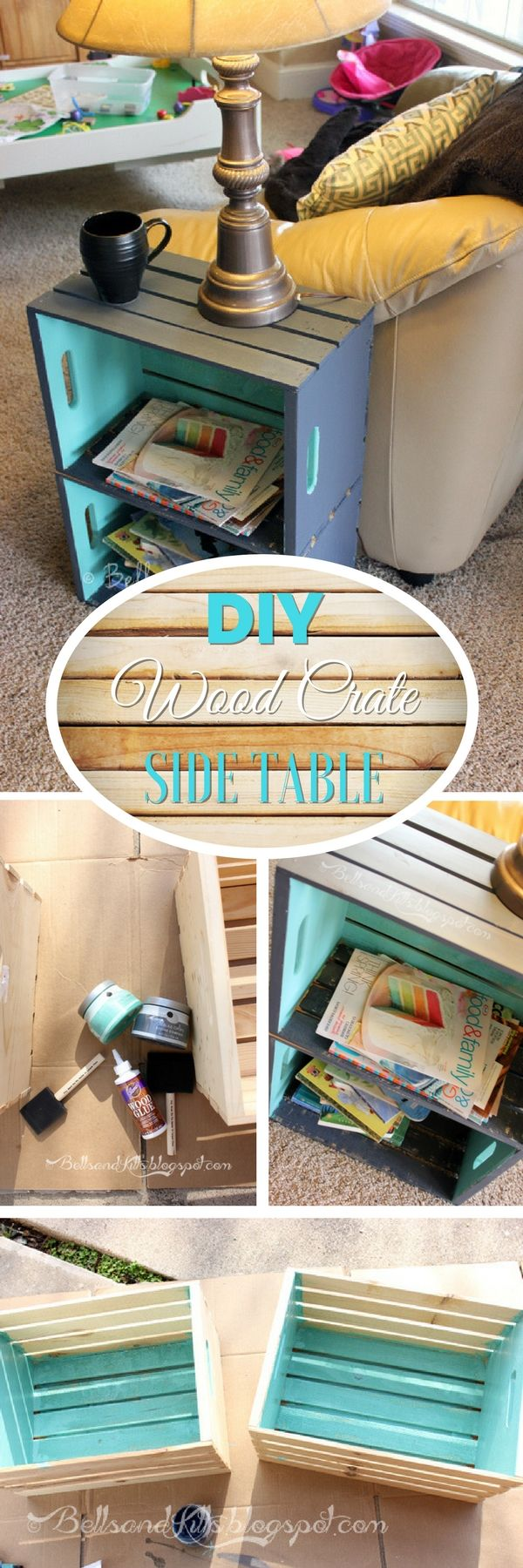 Check out how to build a simple DIY side table form wood crates @istandarddesign
