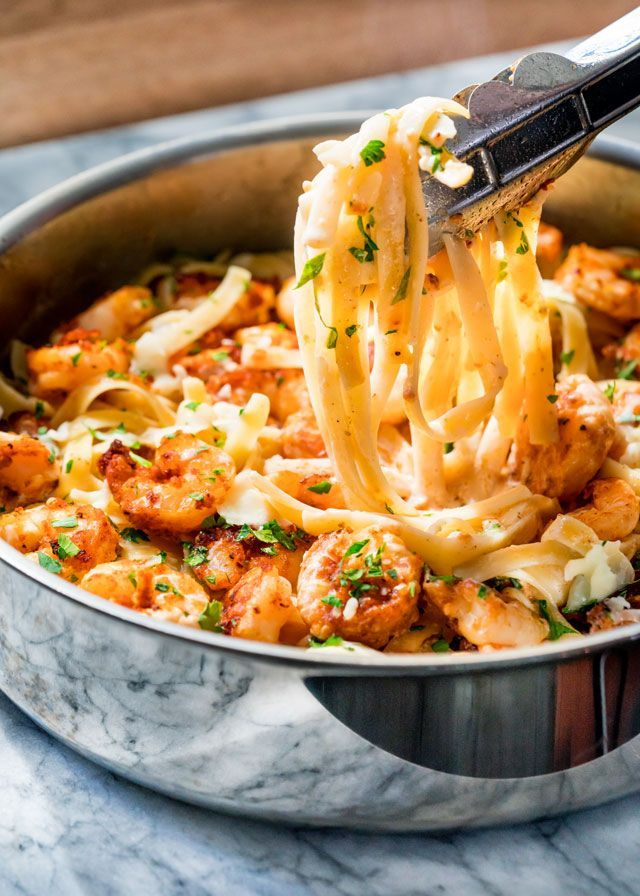 nice Crispy cajun shrimp fettuccine with a super easy creamy sauce and crispy cajun s...by http://dezdemooncooking4u.gdn