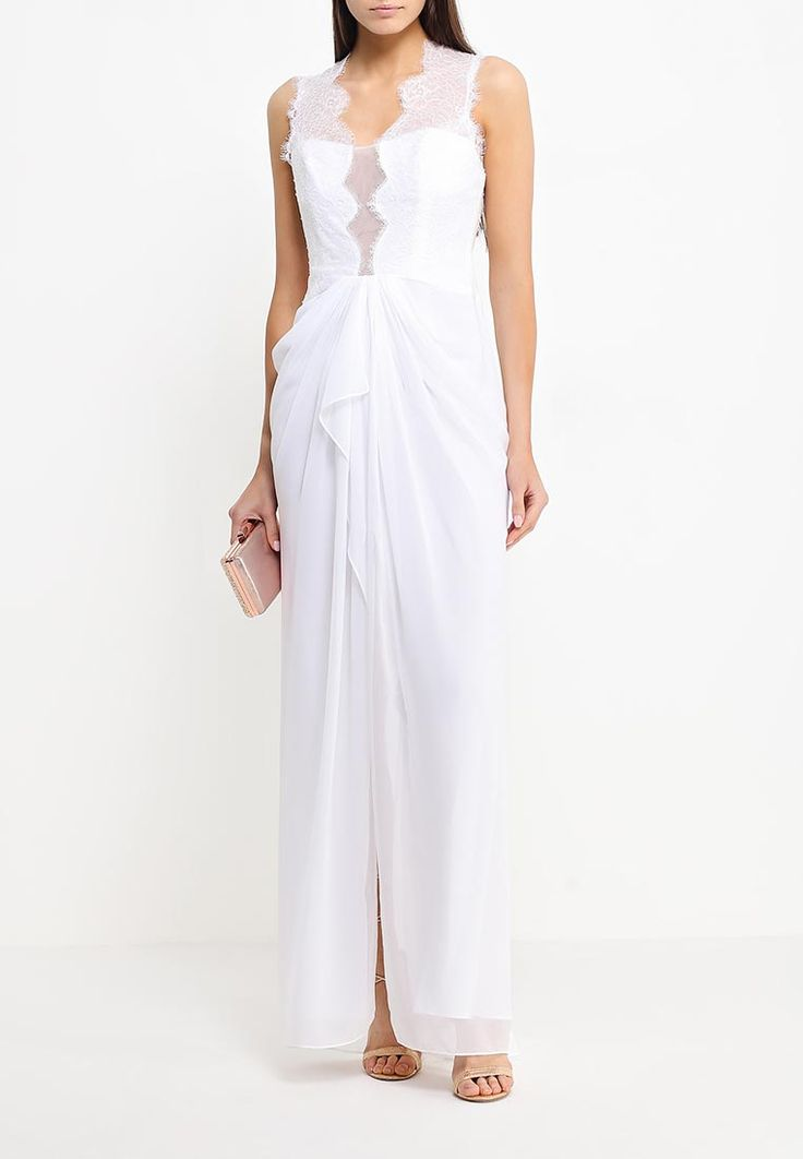 Платье от премиум-марки BCBGMAXAZRIA выполнено из полупрозрачного текстиля и декорировано кружевом. Ссылка http://fas.st/ohOm7x