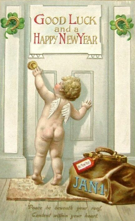 Vintage New Year's Images   Public Domain   Toestand Gratis