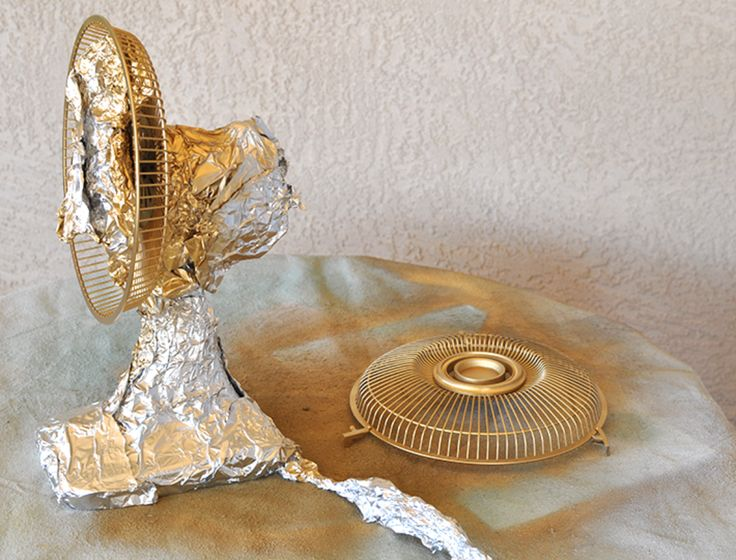 GOLDie DECOR! ♥ How to update an old Fan