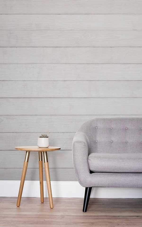Mural de pared Madera neutro Living Room Wallpaper Pinterest - pared de madera