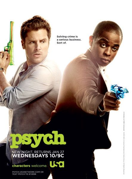 Psych: Favorite Tv, Favorite Things, Dule Hill, Poster, Tv Series, Movie Tv, Water Guns, Psych O', Shawn And Gus
