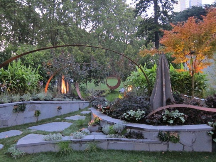 Superb Landscape And Garden Art Display Featuring Metal And Stone At The 2012  Melbourne International Flower And