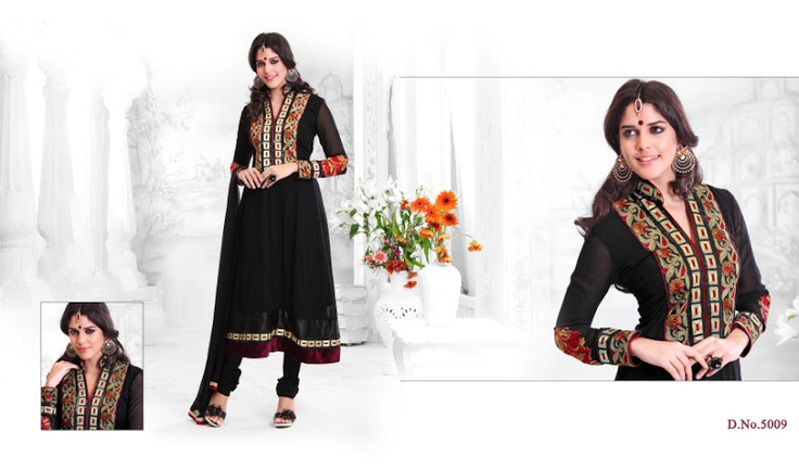 Hand Embroidered latest fashion hottest styles 2013 anarkali suits
