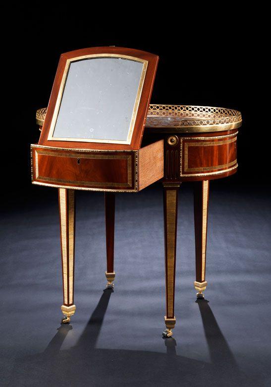 Detailabbildung: Elegantes Poudreuse-Möbel, David Roentgen, 1743 - 1807, zug.
