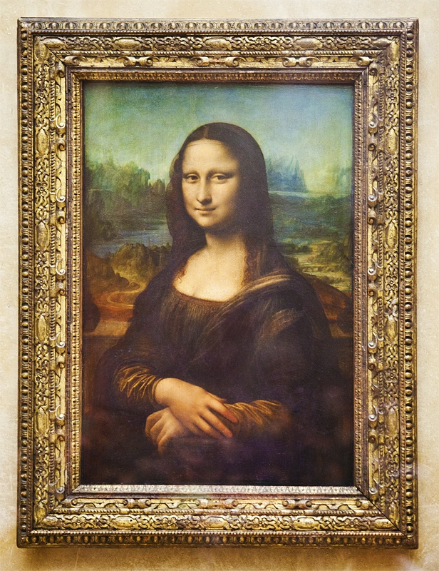 Mona Lisa (also known as La Gioconda or La Joconde, or Portrait of Lisa Gherardini, wife of Francesco del Giocondo) is a portrait by the Italian artist Leonardo da Vinci. It is a painting in oil on a poplar panel, completed circa 1503–1519. Property of the French State, it is on permanent display at the Musée du Louvre in Paris.