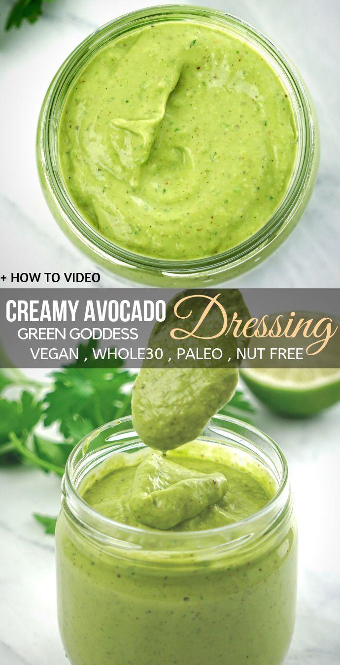 Creamy Avocado Salad Dressing – gesunde cremige Salatsoße, die ohne Milchprodukte auskommt ….. – Avacado