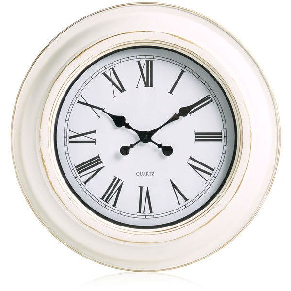 Wilko Station Clock Cream ($16) ❤ liked on Polyvore featuring home, home decor, clocks, traditional home decor, cream clock, cream wall clock, battery operated wall clocks and traditional wall clock
