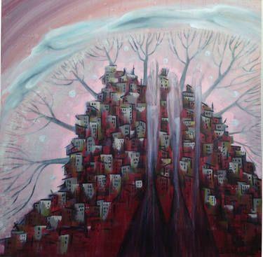 "Saatchi Art Artist Esra Kizir Gokcen; Painting, ""Must Leave"" #art"