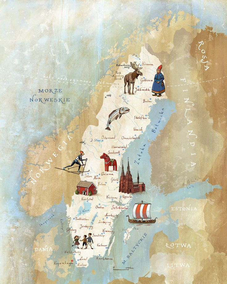 Kapitan Kamikaze - Map of Sweden #sweden #map #sverige