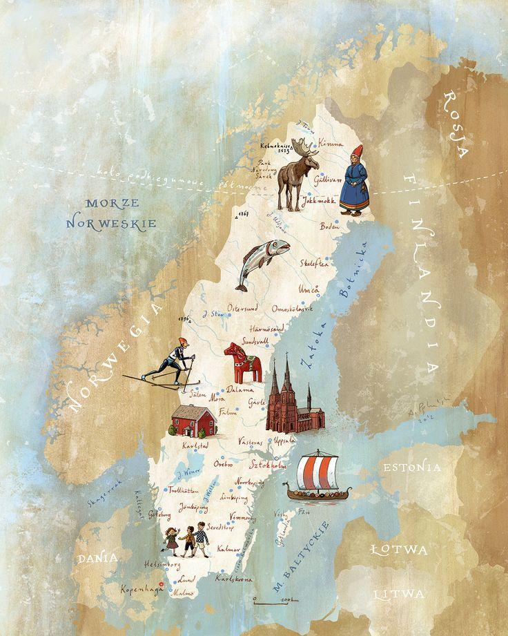Kapitan Kamikaze - Map of Sweden #sweden #map #sverige
