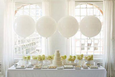 Huge balloons.  Used these at the past 2 birthday parties and LOVE them!