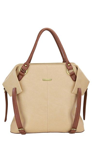 Nordstrom diaper bag I want for baby long in grey and blue super practical and doesn't look like all the other junky diaper bags