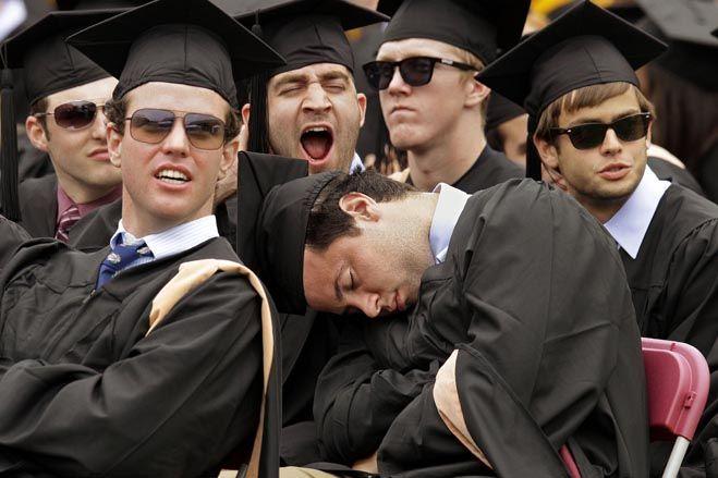 Today's graduation ceremony at Boston College was sooooooo exciting!