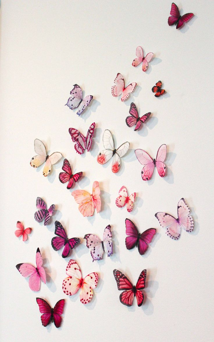 Organza Butterfly Wall Decoration, 20 Wedding Butterfly Decorations, Wall  Decor, Nursery Decoration,