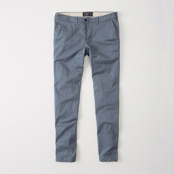 Abercrombie & Fitch Super Slim Chino (1.160 RUB) ❤ liked on Polyvore featuring men's fashion, men's clothing, men's pants, men's casual pants, blue, mens skinny chino pants, mens blue chino pants, mens chino pants, mens skinny pants and mens super skinny dress pants