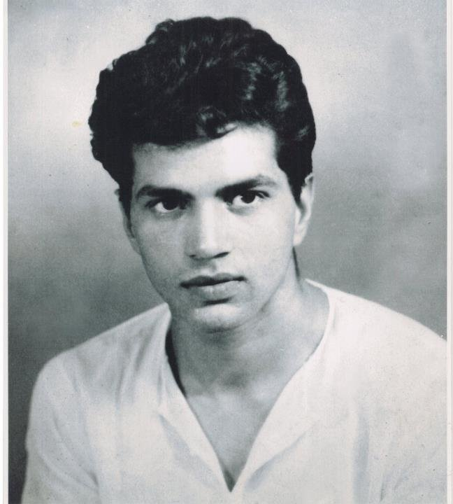 Actor Dharmendra during his younger years - so cute...but he looks a little bit like trouble already.