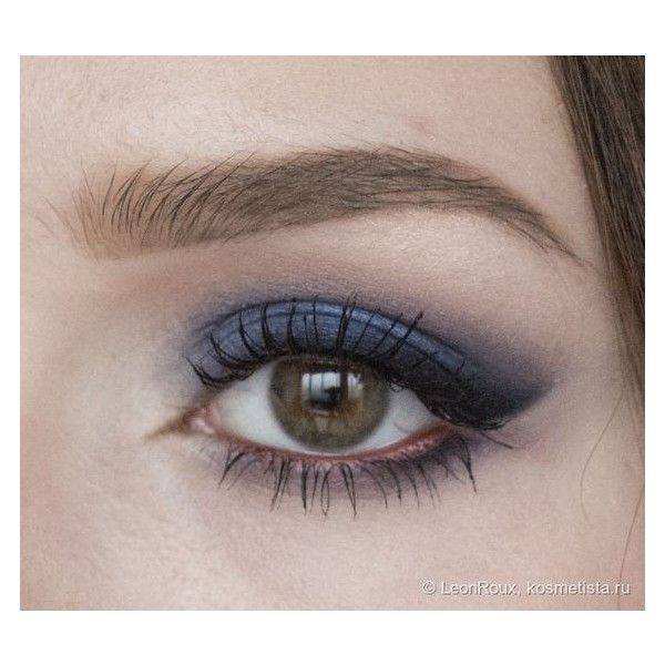 Синий макияж Electro blue eye make up ❤ liked on Polyvore featuring beauty products, makeup and face makeup