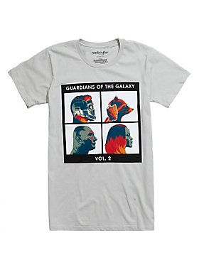 "You only get one chance to save the galaxy...twice? Make sure you take this <i>Guardians Of The Galaxy Vol. 2</i> shirt with you for protection. All five Marvel Guardians are profiled in a dangerously cool album cover style.<div><ul><li style=""list-style-position: inside !important; list-style-type: disc !important"">100% cotton</li><li style=""list-style-position: inside !important; list-style-type: disc !important"">Wash cold; dry low</li><li style=""list-style-position: inside !important…"