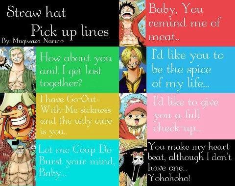 One Piece boys pick up line
