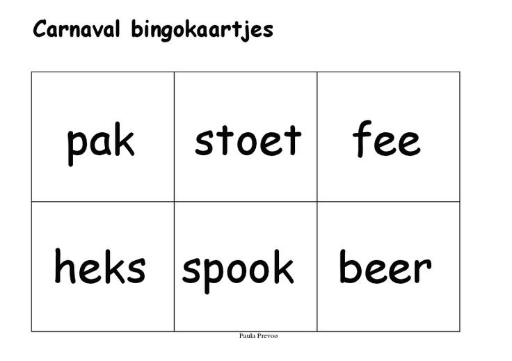 Carnaval bingokaartjes3