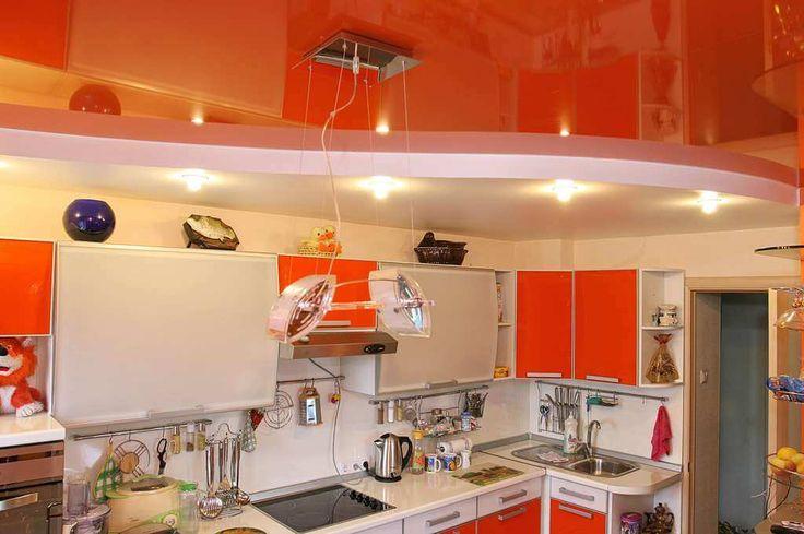 многоуровневый потолок над рабочей зоной кухни зонирование: 15 тыс изображений найдено в Яндекс.Картинках