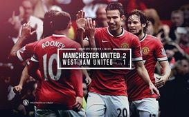 Barclays Premier League Match 6 : MU 2-1 West Ham United (Rooney 5', v. Persie 22'/Diafra Sakho 37') 27 September 2014 - Old Trafford