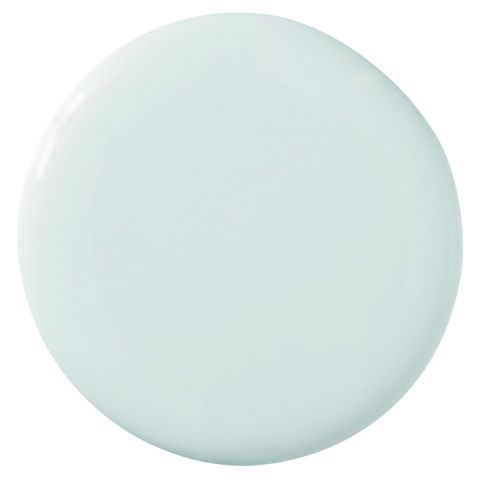 """Everyone — men and women alike — loves this color. It's a pale blue with a lot of green in it, and it's a little dirty, which makes it more complex than the typical pastel. Farrow & Ball Estate Emulsion Pale Powder 204"